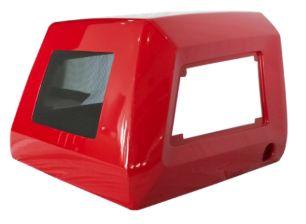 Красный кожух из стеклопластика