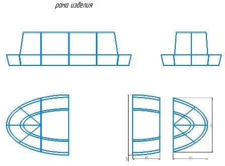 Рама скамейка - 3D модель